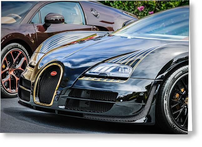 Special Edition Greeting Cards - Bugatti Legend - Veyron Special Edition -0845c Greeting Card by Jill Reger