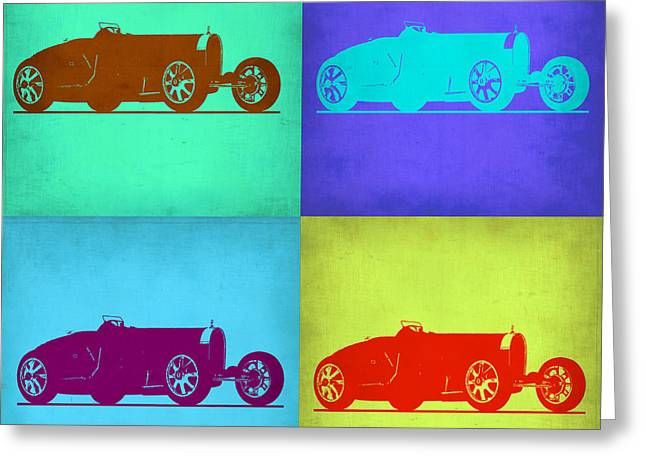 Bugatti Greeting Cards - Bugatti Type 35 R Pop Art 1 Greeting Card by Naxart Studio