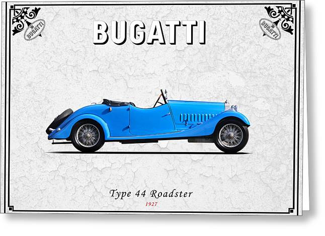 Bugatti Greeting Cards - Bugatti Type 44 1927 Greeting Card by Mark Rogan