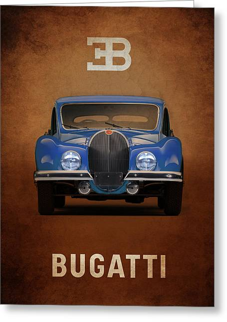 Bugatti Greeting Cards - Bugatti Type 57 Greeting Card by Mark Rogan