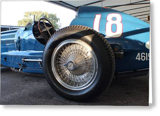 Number 18 Greeting Cards - Bugatti Wire Wheels Greeting Card by Robert Phelan