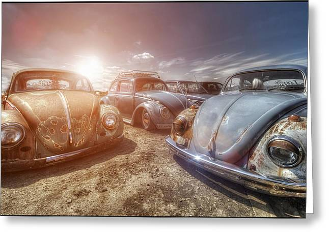 Vw Beetle Greeting Cards - Bugs in the Sun Greeting Card by Jason Green