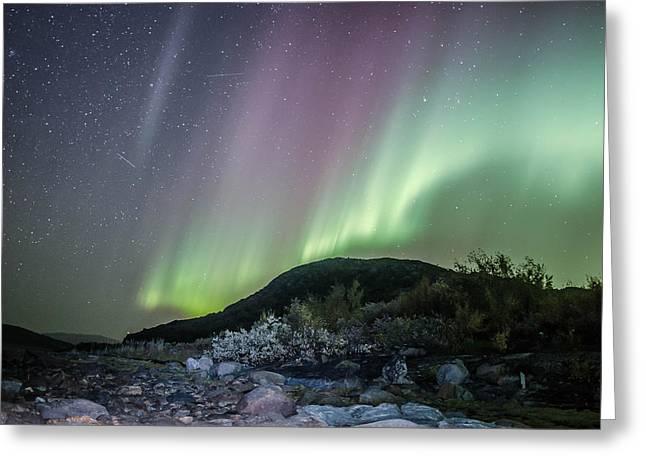 Northernlights Greeting Cards - Buholmen Greeting Card by Roy Haakon Friskilae