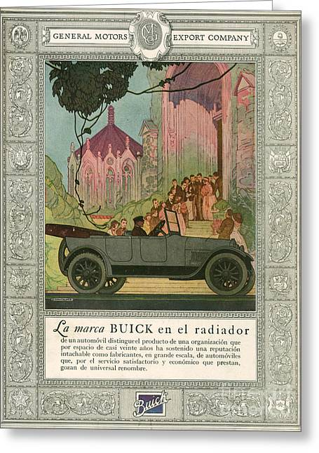 American Automobiles Greeting Cards - Buick 1920 1920s Usa Cc Cars Weddings Greeting Card by The Advertising Archives