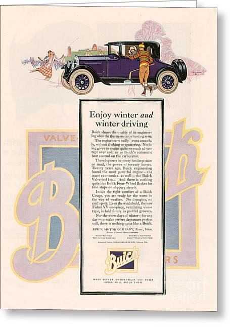 American Automobiles Greeting Cards - Buick 1925 1920s Usa Cc Cars Greeting Card by The Advertising Archives