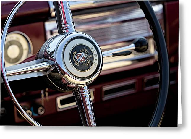 Custom Buick Greeting Cards - Buick 56C Super Classic Greeting Card by Susan Candelario