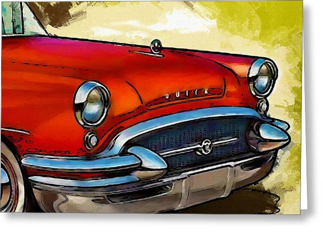 Headlight Greeting Cards - Buick Automobile Greeting Card by Robert Smith