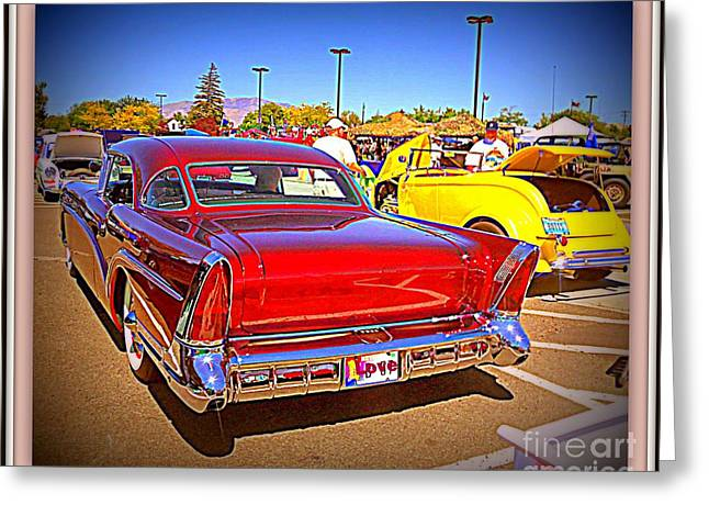 Print On Acrylic Greeting Cards - Buick Classic Greeting Card by Bobbee Rickard