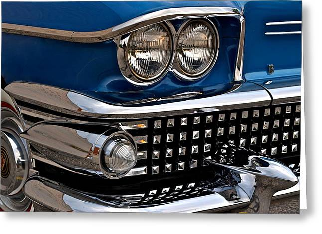 Blue Buick Greeting Cards - Buick Classic Greeting Card by Frozen in Time Fine Art Photography