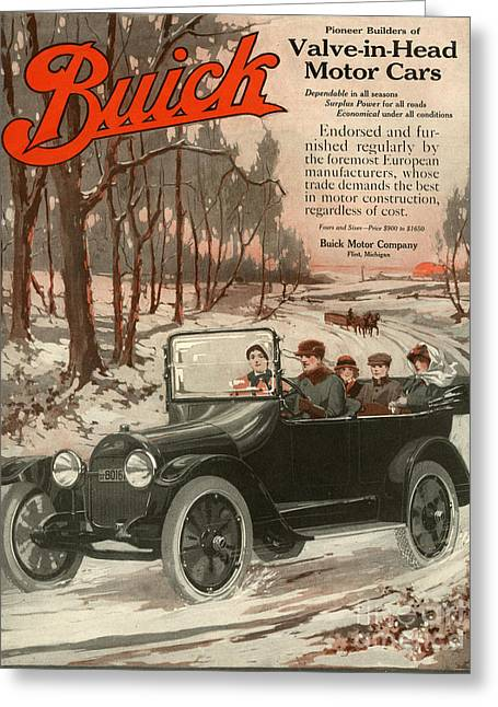 American Automobiles Greeting Cards - Buick Division Of General Motors 1910s Greeting Card by The Advertising Archives