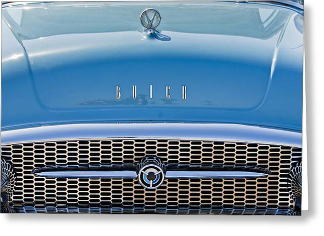 Buick Greeting Cards - Buick Grille Greeting Card by Jill Reger