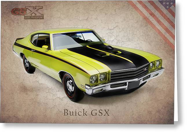 Buick Greeting Cards - Buick GSX 1971 Greeting Card by Mark Rogan