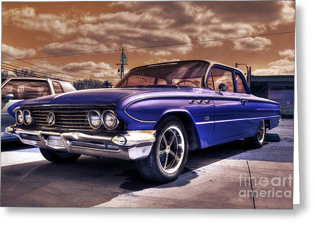 Blue Buick Greeting Cards - Buick Invicta  Greeting Card by Rob Hawkins