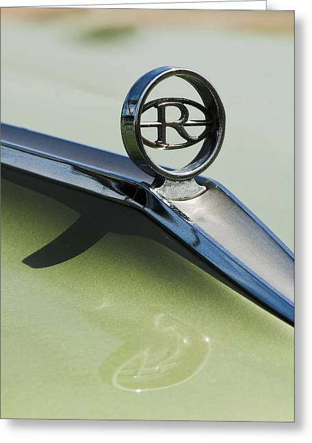 Abstract Image Greeting Cards - Buick Riviera Hood Ornament Greeting Card by Jill Reger