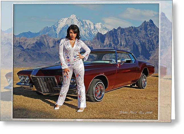 Personal Land Vehicle Greeting Cards - Buick Riviera Lowrider Greeting Card by Walter Herrit
