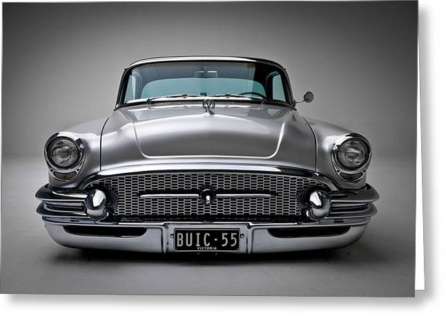 1955 Digital Art Greeting Cards - Buick Roadmaster 1955 Greeting Card by Gianfranco Weiss