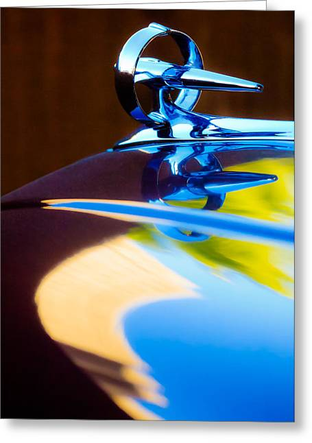 Buick Greeting Cards - Buick Roadmaster Hood Ornament -0625c Greeting Card by Jill Reger