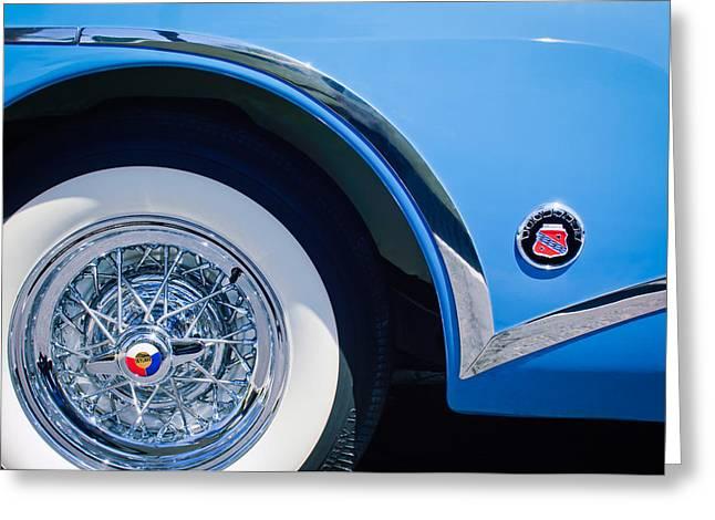 Buick Skylard Wheel Emblem Greeting Card by Jill Reger