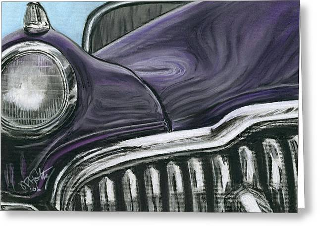 Headlight Pastels Greeting Cards - Buick Smile Greeting Card by Michael Foltz
