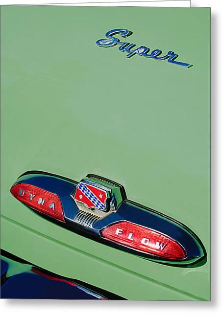 Buick Greeting Cards - Buick Super Dina Flow Emblem Greeting Card by Jill Reger