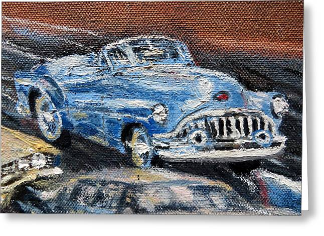 Dream Scape Greeting Cards - Buick Vintage Greeting Card by Daniel Gomez