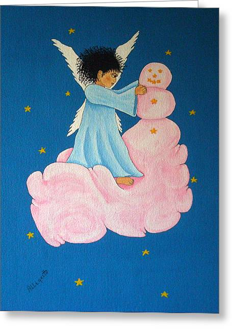 Night Angel Greeting Cards - Building a Cloudman Greeting Card by Pamela Allegretto