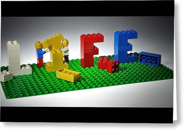 Lego Greeting Cards - Building A Life Together Greeting Card by Mark Fuller