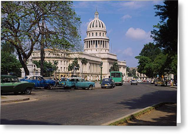 West Indian Greeting Cards - Building Along A Road, Capitolio Greeting Card by Panoramic Images