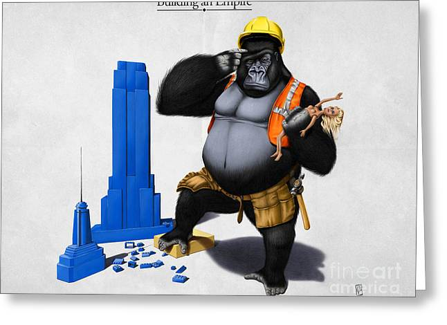 Illustration Greeting Cards - Building an Empire Greeting Card by Rob Snow