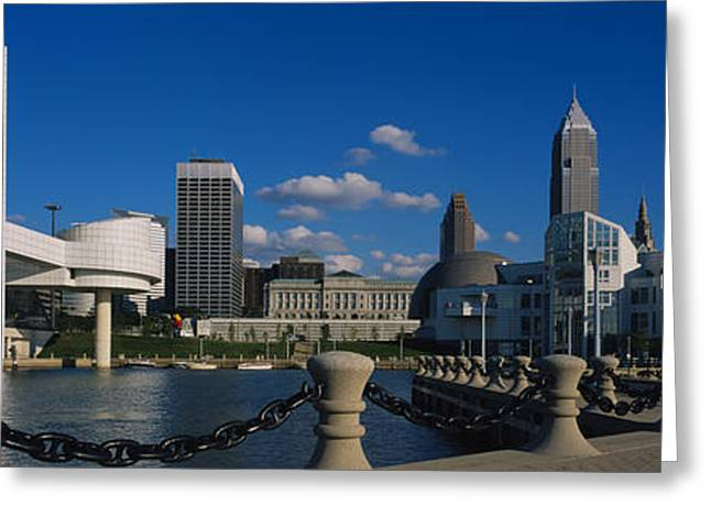Arts Culture And Entertainment Greeting Cards - Building At The Waterfront, Rock And Greeting Card by Panoramic Images