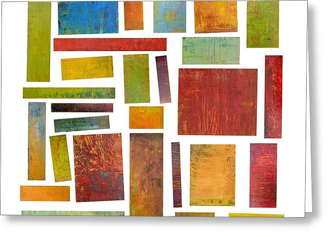 Color Compilation Greeting Cards - Building Blocks One Greeting Card by Michelle Calkins