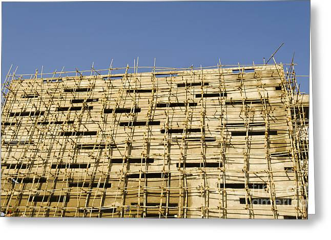 Bamboo House Greeting Cards - Building construction Greeting Card by Image World