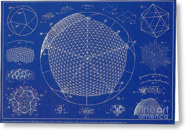 Buckminster Fuller Greeting Cards - Building Construction Geodesic Dome 1951 Greeting Card by Science Source