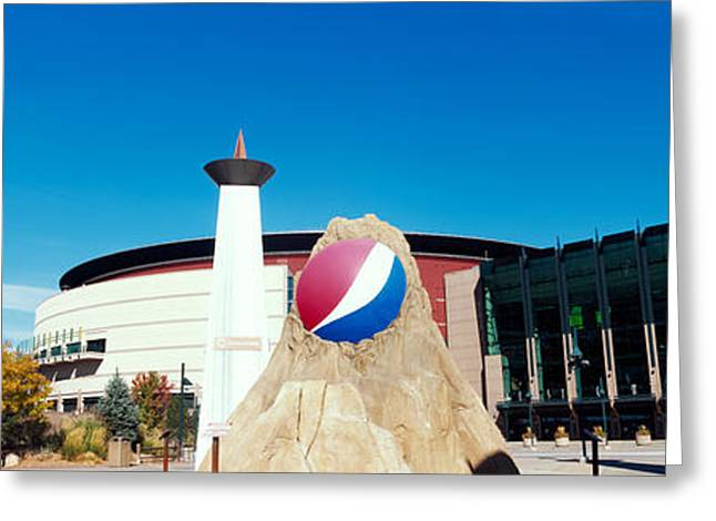 Building In A City, Pepsi Center Greeting Card by Panoramic Images