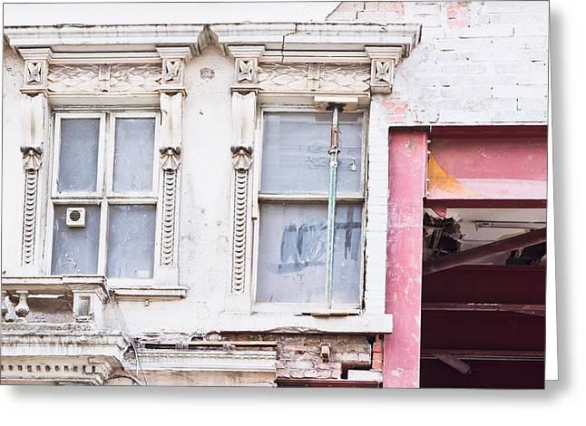 Run Down Greeting Cards - Building repair Greeting Card by Tom Gowanlock