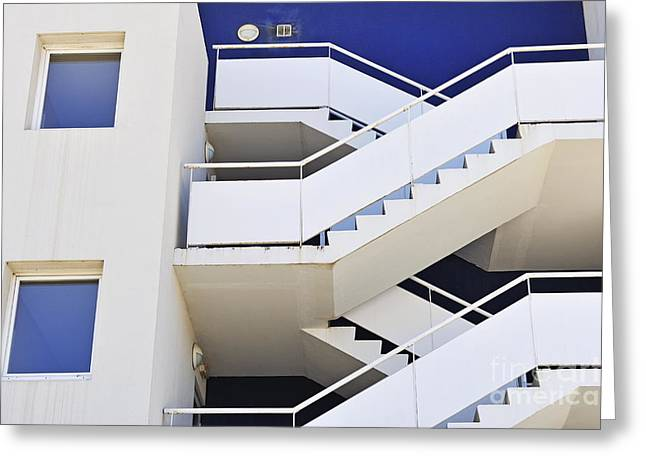 Building Staircase Greeting Card by Sami Sarkis