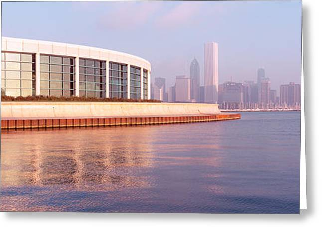 Haze Greeting Cards - Building Structure Near The Lake, Shedd Greeting Card by Panoramic Images