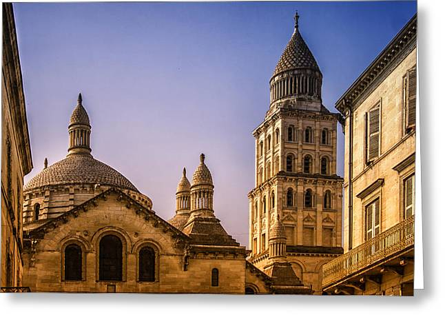 Medieval Entrance Greeting Cards - Building Tops Greeting Card by Nomad Art And  Design