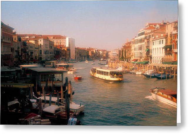 Italian Culture Greeting Cards - Buildings Along A Canal, Grand Canal Greeting Card by Panoramic Images