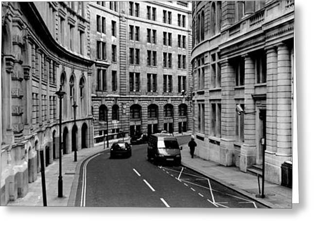 Person Greeting Cards - Buildings Along A Road, London, England Greeting Card by Panoramic Images