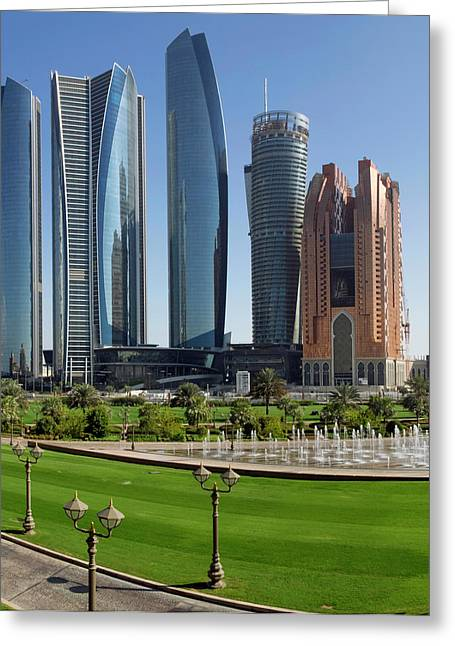Buildings Along Corniche Road, Al Greeting Card by Panoramic Images