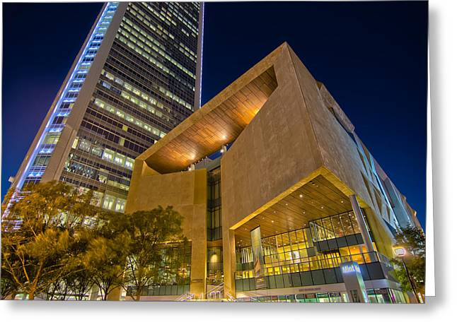 Charlotte Art Museums Greeting Cards - Buildings And Architecture Around Mint Museum In Charlotte North Greeting Card by Alexandr Grichenko