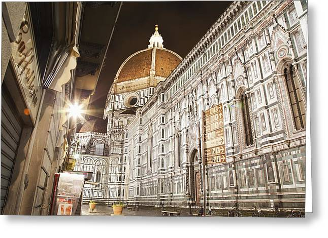 Buildings And Florence Cathedral Greeting Card by Alexander Macfarlane