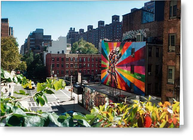 High Line Greeting Cards - Buildings Around A Street From The High Greeting Card by Panoramic Images