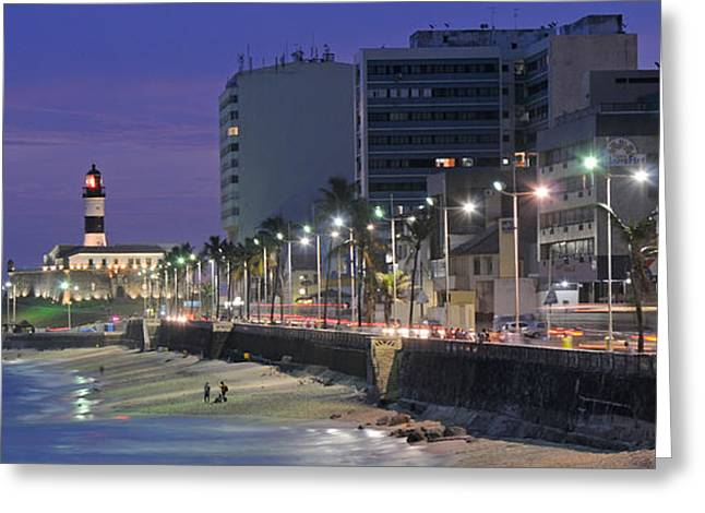 Beach Photography Greeting Cards - Buildings At Porto Da Barra Beach Greeting Card by Panoramic Images