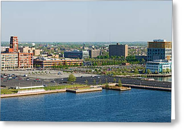 Delaware River Greeting Cards - Buildings At The Waterfront, Adventure Greeting Card by Panoramic Images