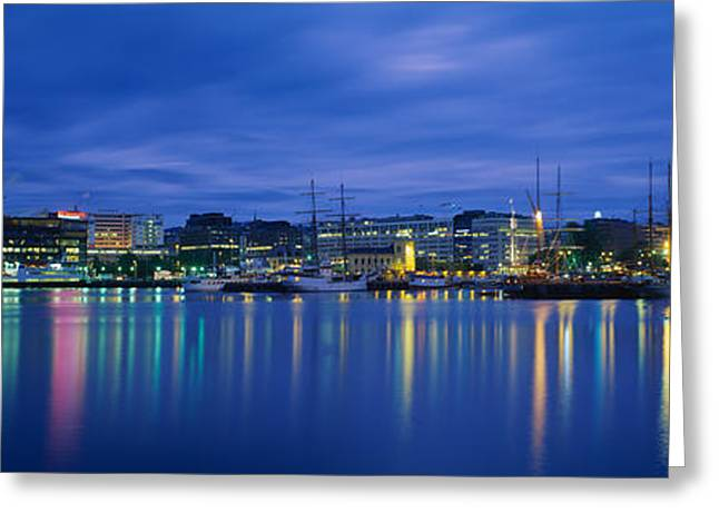 Buildings At The Waterfront, City Hall Greeting Card by Panoramic Images
