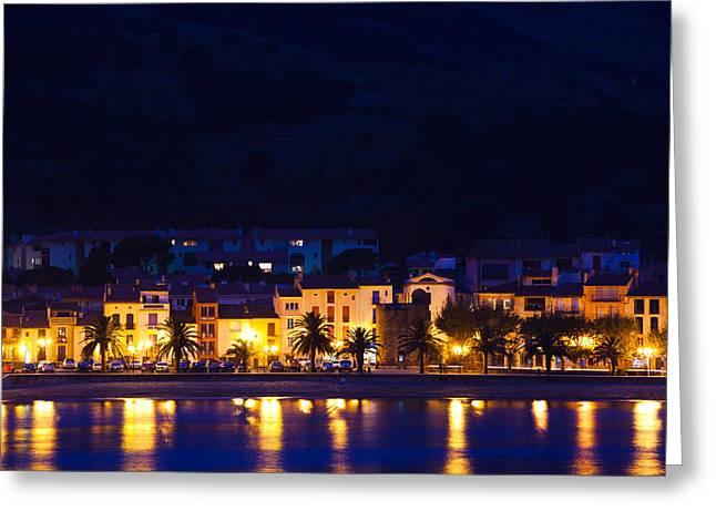 Buildings At The Waterfront, Collioure Greeting Card by Panoramic Images