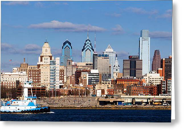 Buildings At The Waterfront, Delaware Greeting Card by Panoramic Images