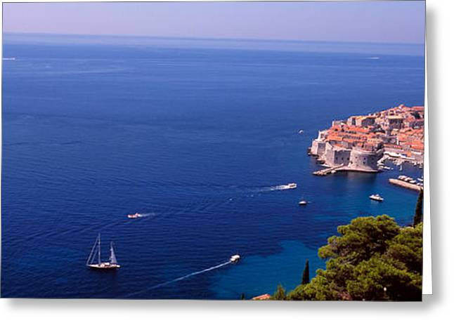 Dubrovnik Greeting Cards - Buildings At The Waterfront, Dubrovnik Greeting Card by Panoramic Images